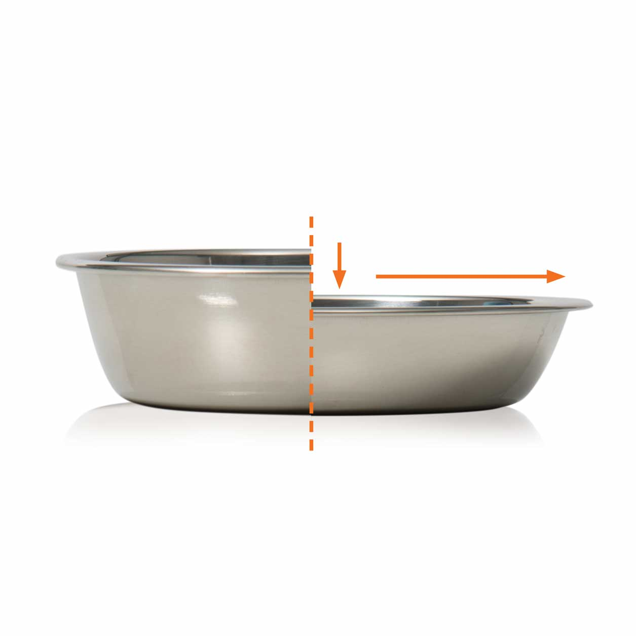 Feeding dish with shallow design