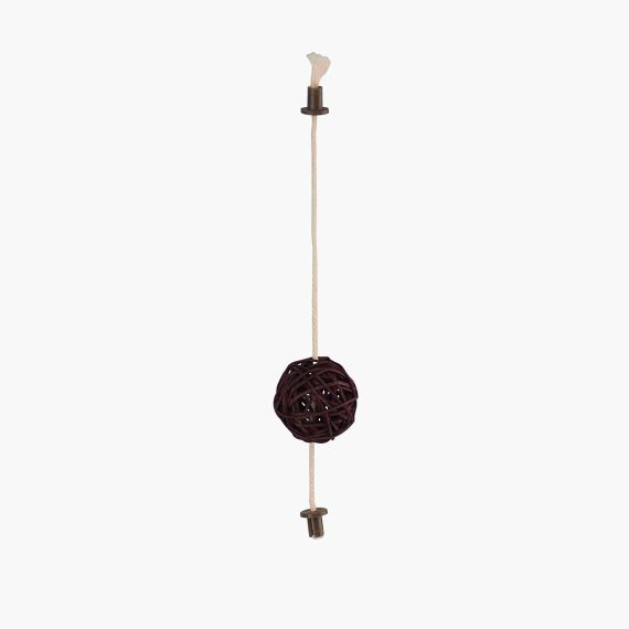 52204 - Vesper Rattan Ball Toy - Dark