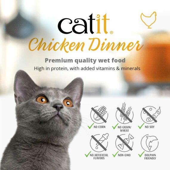 Catit Chicken Dinner - Premium quality wet food. High in protein, with added vitamins & minerals