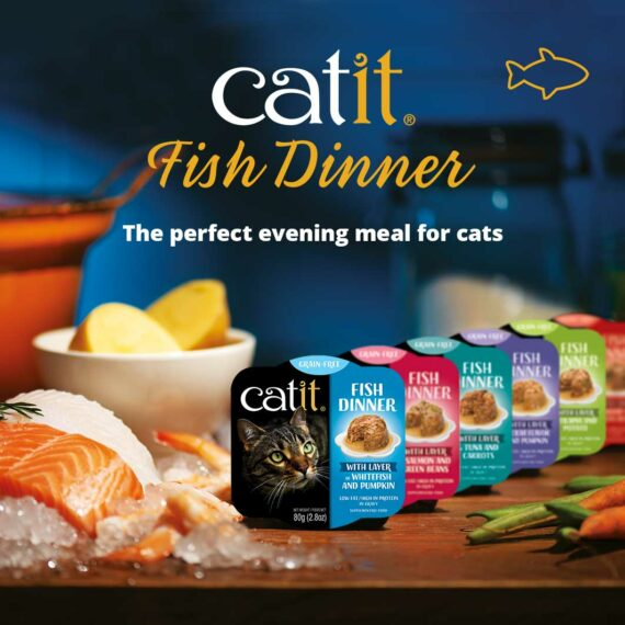 Catit Fish Dinner - The perfect evening meal for cats