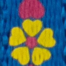 Bleu avec fleurs