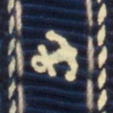 Bleu avec motif nautique