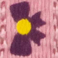 Rose avec boucles violettes