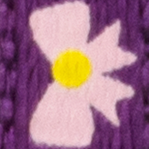 Violet avec boucles roses