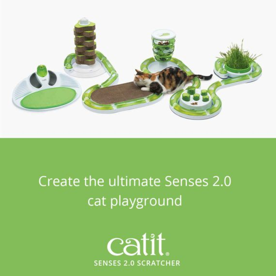 Create the ultimate Senses 2.0 cat playground with the Catit Senses 2.0 Scratcher