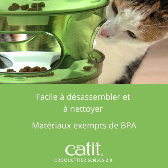 Croquettier Senses 2.0 – Facile à désassembler et à nettoyer. Matériaux exempts de BPA