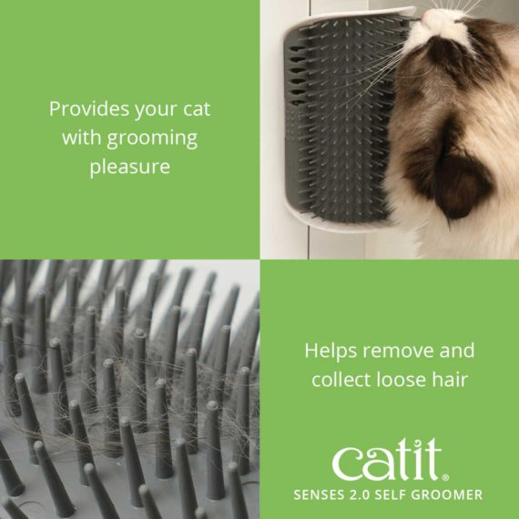 Catit Senses 2.0 Self Groomer provides your cat with grooming pleasure and helps remove and collect loose hair