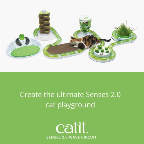 Create the ultimate Senses 2.0 cat playground with the Catit Senses 2.0 Wave Circuit