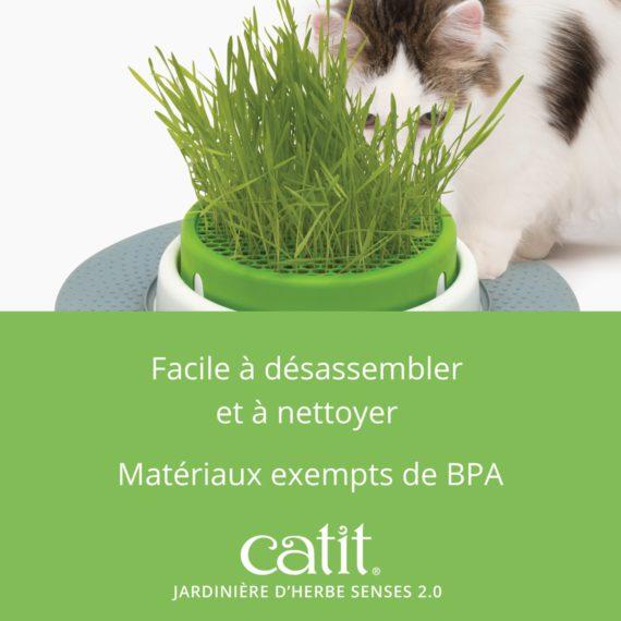Jardinière d'herbe Senses 2.0 est facile à désassembler et à nettoyer. Matériaux exempts de BPA