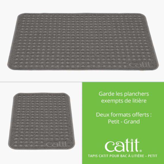 Tapis Catit Pour Bac à Litière – Garde les planchers exempts de litière. Deux formats offerts: Petit et Grand