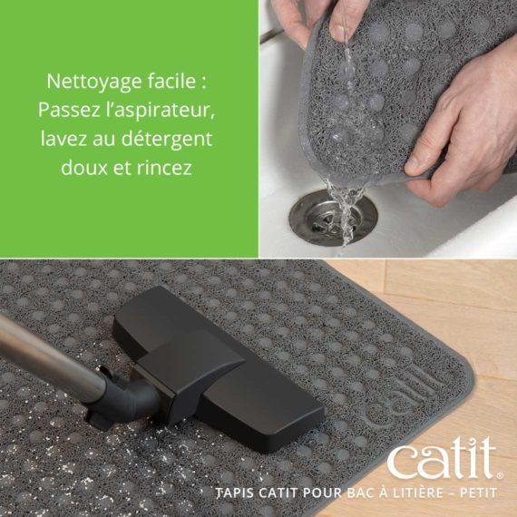 Tapis Catit Pour Bac à Litière – Nettoyage facile: Passez l'aspirateur, lavez au detergent doux et rincez