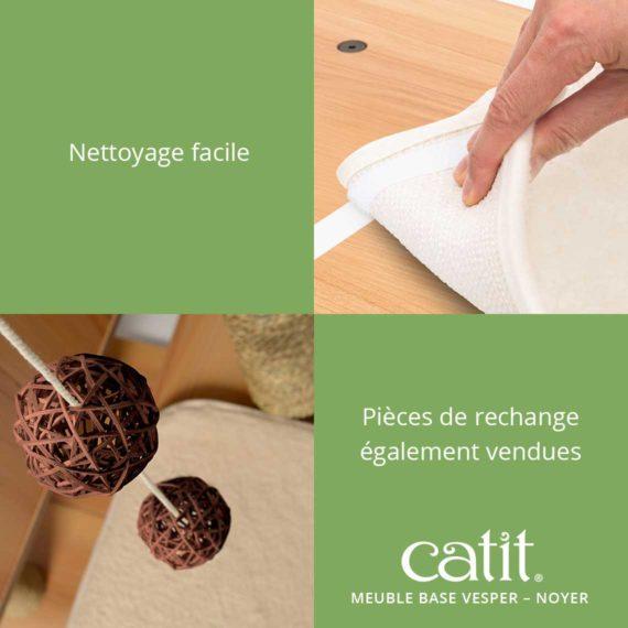 Meuble Base Vesper Catit - Nettoyage facile. Pièces de rechange également vendues