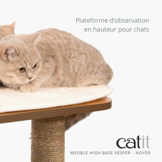 Meuble Vesper High Base Catit - Plateforme d'observation en hauteur pour chats Vesper High Base is a tall observation platform for cats