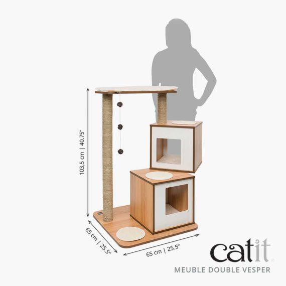 Meuble Double Vesper Catit - Dimensions