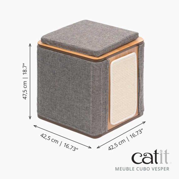 Meuble Cubo Vesper Catit – Dimensions