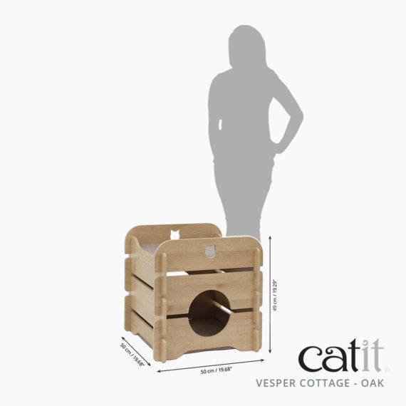 Catit Vesper Cottage Oak size