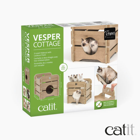 Catit Vesper Cottage Oak box