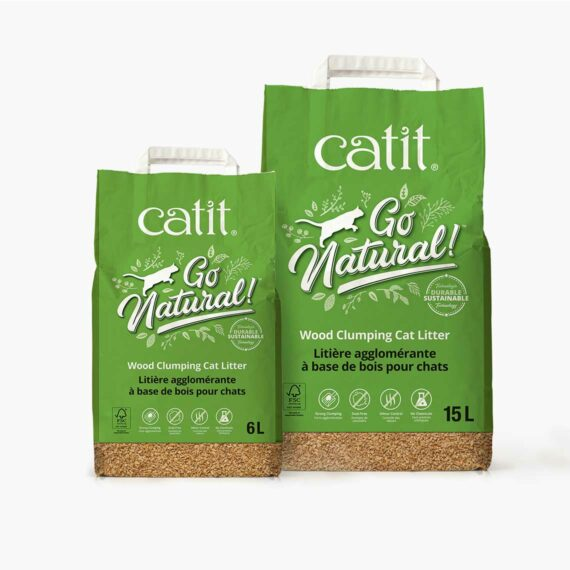 Catit Go Natural - Wood Clumping Cat Litter