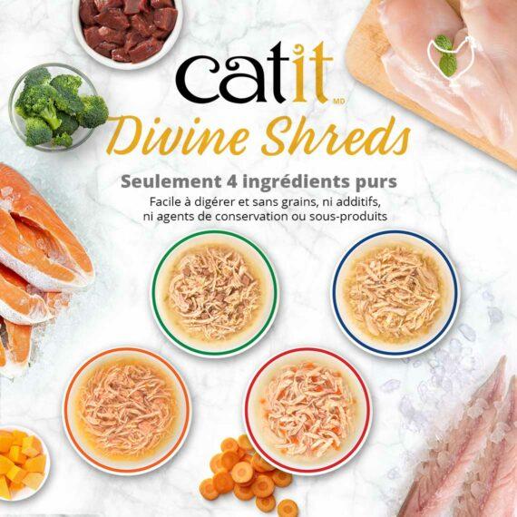 Catit Divine Shreds - Seulement 4 ingrédients purs
