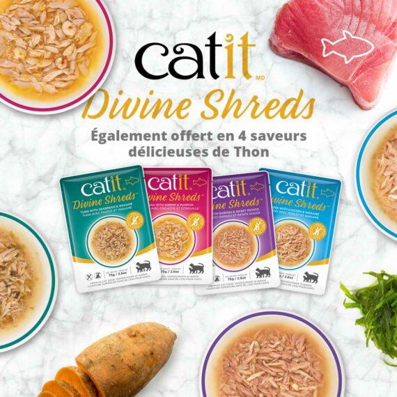 Catit Divine Shreds - Egalement offert en 4 saveurs délicieuses de Thon