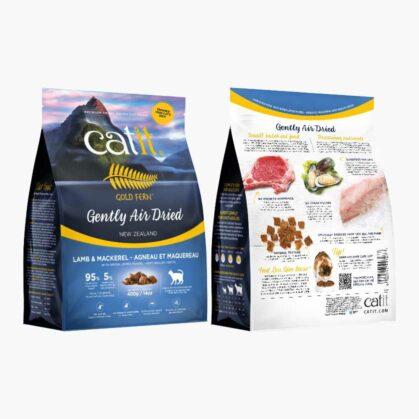 Aliments séchés à l'air Catit Gold Fern - Ingrédients - Agneau et maquereau sac