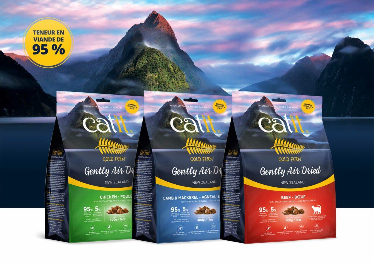 Aliments séchés à l'air Catit Gold Fern - teneur en viande de 95 %