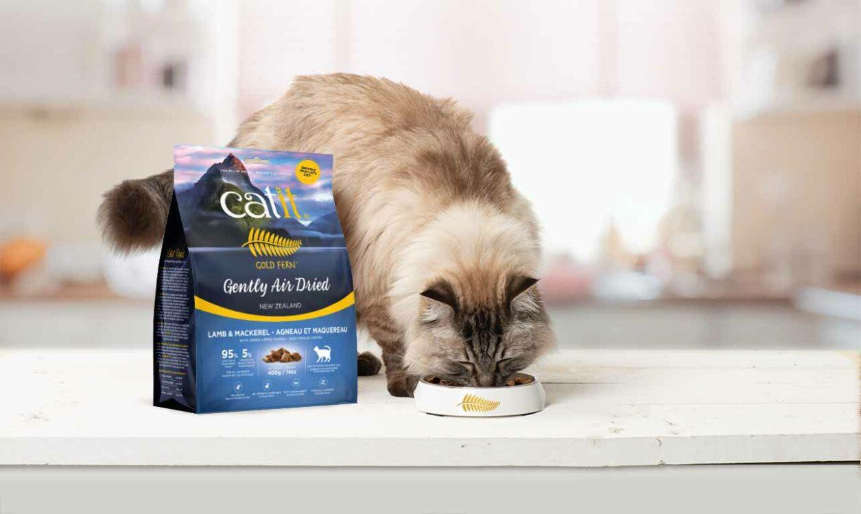 Aliments séchés à l'air Catit Gold Fern Gold Fern - Rehaussez l'alimentation de votre chat